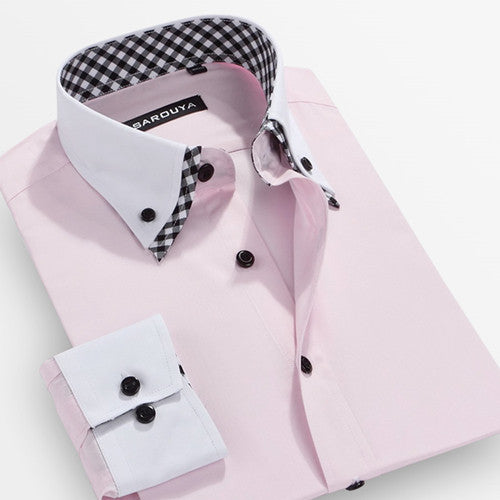 New Arrival Autumn Mens Print Polka Dot Dress Shirts