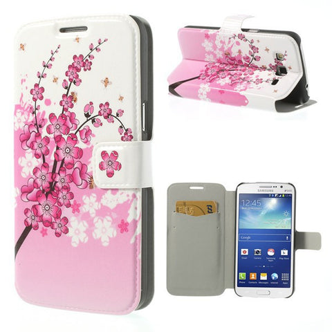 Beautiful Flip PU Leather Shell Cover Case For Samsung