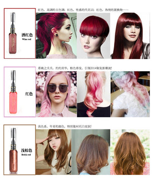 1PC One-time Hair Color Hair Dye Color Easy Temporary Non-toxic DIY Hair Mascara Color Hair Cream Color Crayon Mutlicolor - Gifts Leads
