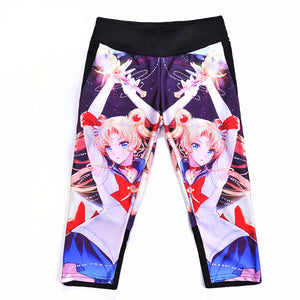 Sexy women's 7 point pant Girl Month Hare Sailor Moon