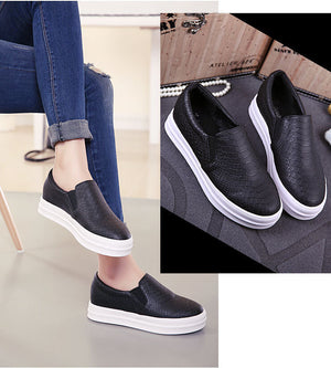 New Women Loafers Casual Flats Heels Round Toe