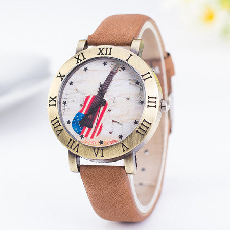 Fashion Women Watch Ladies Leather Quartz