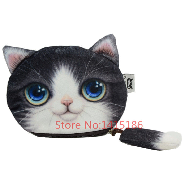 2016 New Small Tail Cat Coin Purse Cute Kids Cartoon Wallet