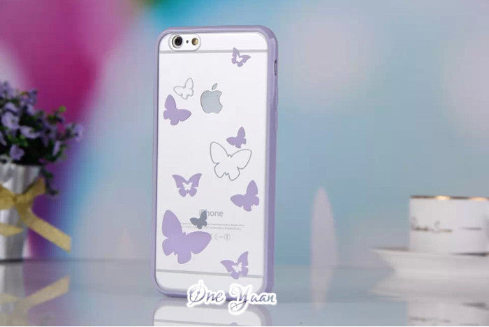 2016 Newest Cute candy colors Butterfly case For Apple iphone 5 5s