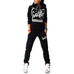 3 Colors 2016 Winter Tracksuit Women Clothing Hoodies Set