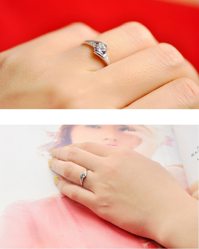 Women Rings Love Crystal Wedding Ring Promotion Cheap New 2017 Anel Feminino Valentine's Day Gift Ulove Fashion Jewelry
