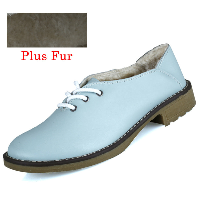 2016 New Women Genuine Leather Oxford Shoes  Fashion