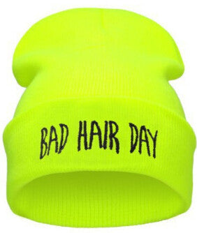 Winter bad hair day beanie women men Diamond beanies