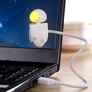 2016 Creative Robot Night Light Novelty Gadget USB Led Light With Adjustable Luminance Led Night Light - Gifts Leads