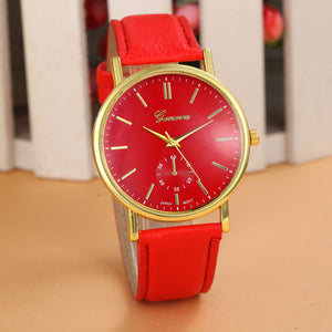 Woman Quartz Watch Cheap Geneva Girls Gift Popular