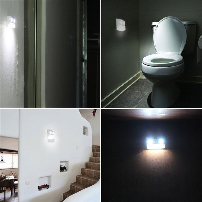 Rechargeable LED PIR Sensor Motion Detector Wireless LED Night Light Lamp Indoor Lighting USB Charging Powered