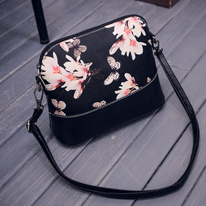 Brand Hcandice Shoulder Bags Women Printing Leather Satchel  for womens fashion shell Messenger Bag 2016 Gift 1pcs