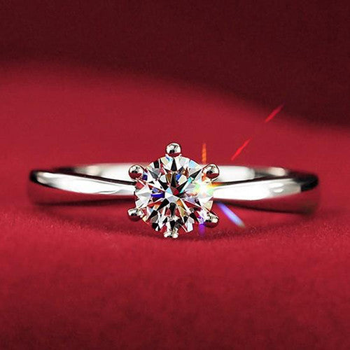 Hot selling Women Clear Zircon Inlaid Wedding Bridal Engagement Party