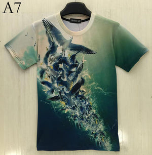 2016 New 3d t-shirt men/boy brand t shirt casual sexy Hip Hop