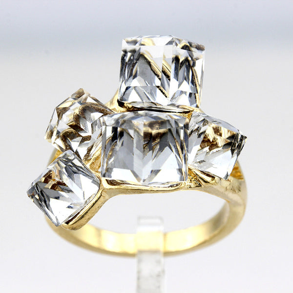 Ladies Crystal CZ Engagement Cocktail Ring Large for Women