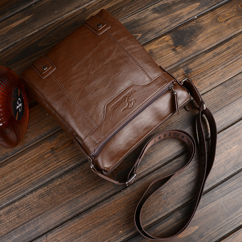 Fashion Genuine Leather Men's Messenger Bags Man