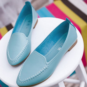 Women Flats 2016 Summer Style Casual Solid  Pointed Toe