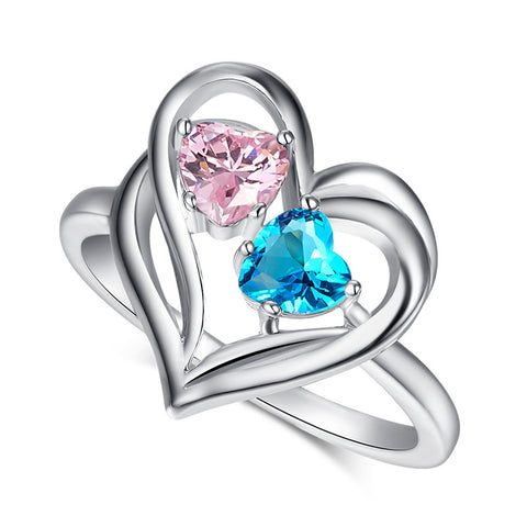 Heart Jewelry Love Engagement Wedding Rings