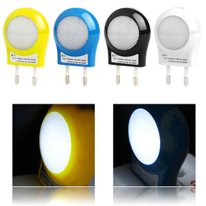 4 Colors Mini 0.7W LED Night light Smart Control lamp Light Sensor 100V - 240V Bulb For Baby Bedroom Gift EU Plug Supplier