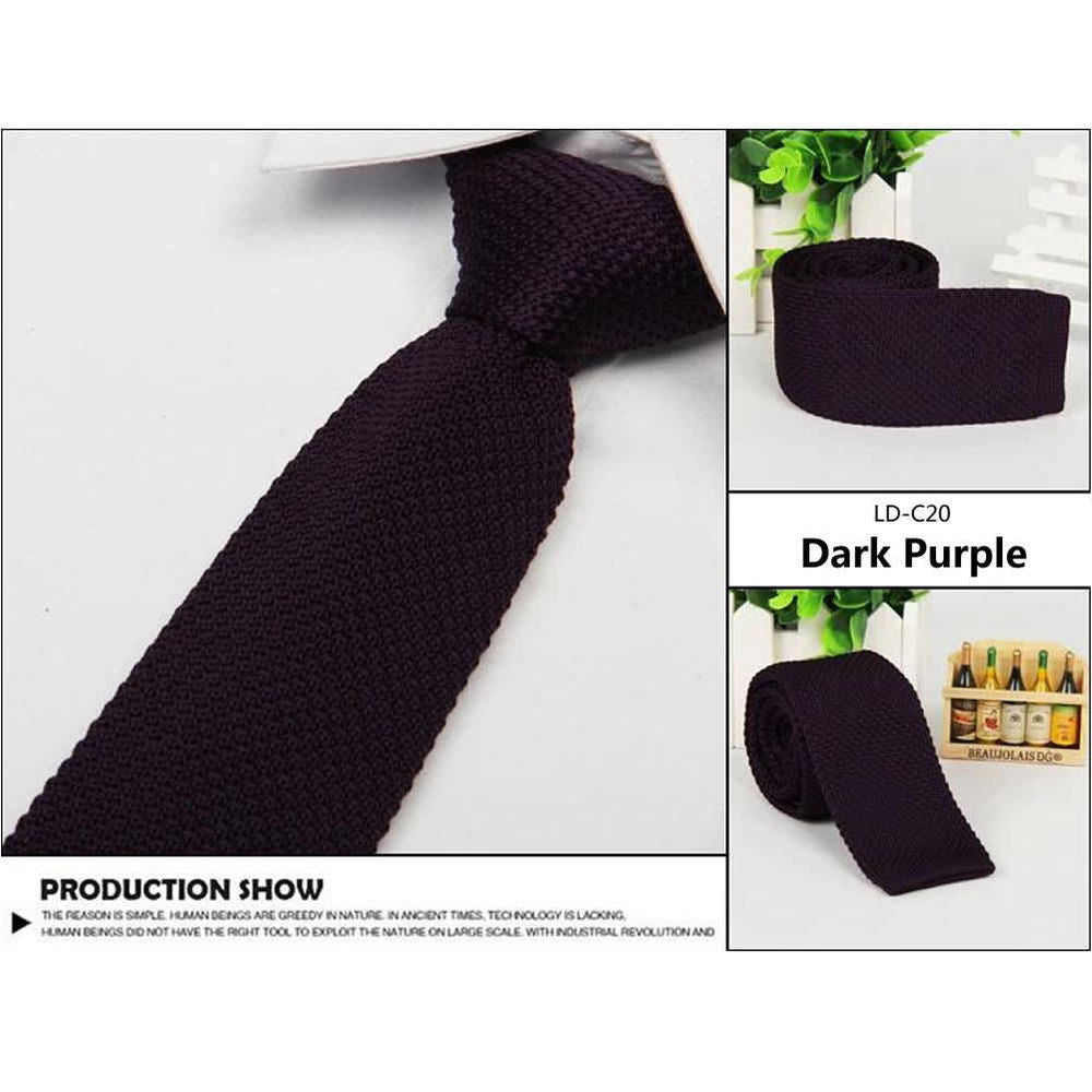 Men's Fashion Solid Tie Knit Knitted Tie