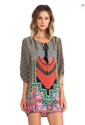 New Designer Women Fashion Bohemian dress Ethnic Printing