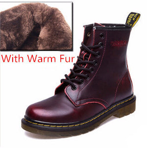 New England Style Genuine Leather Martin Boots Martin Shoes
