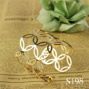 Women Unisex Charm Bracelets Fashion Bracelets 12 Kinds Of Simple Geometric Style Pop Punk Metal Bracelet Gold Bangles