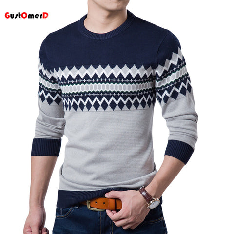 2016 NEW 4 Colors Plaid Mens Sweaters Cotton Brand Sweater Men