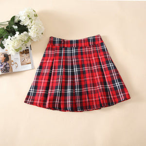 23439e70fe Fashion preppy style pleated skirt plaid skirt school uniform skirt gi –  Gifts Leads