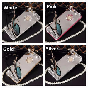 Pure handmade diamond shiny diamond mirror case
