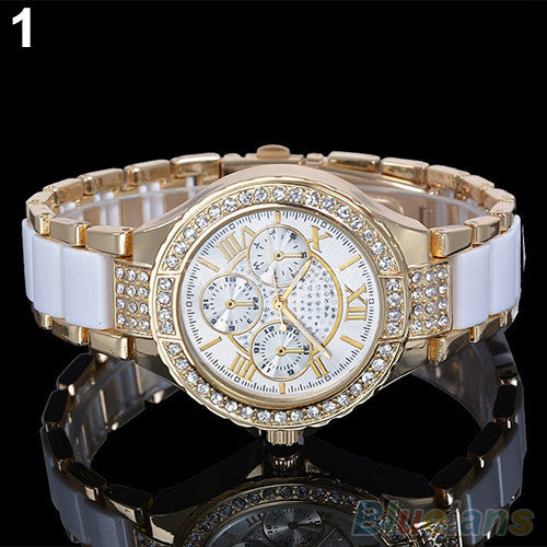 Women's Fashion Roman Numerals Rhinestone Alloy