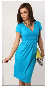 New Fashion  Slimming Women Casual Plus Size Midi Dress