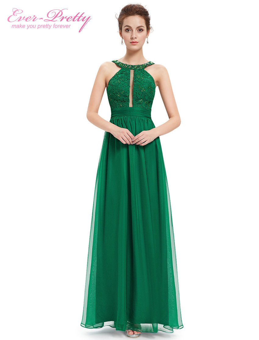 Long  Evening Dresses 2016 Women Sexy Ever Pretty HE08572 Green Lacy Ruffled Summer Dress Sexy Hot Selling Evening Dress New