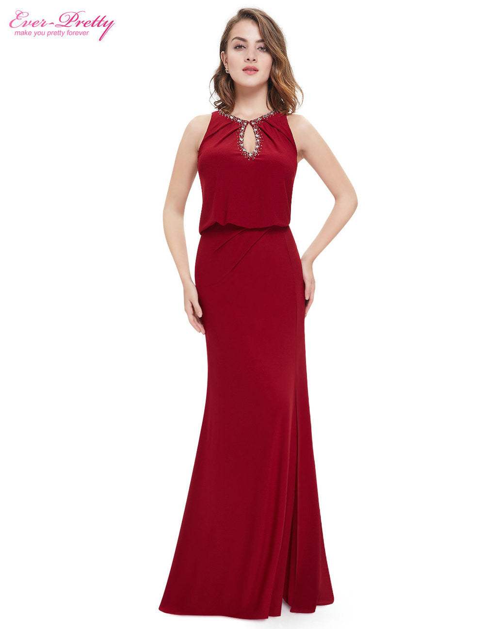 Free Shipping 2016 New Arrival Elegant Keyhole Neckline Women Long Sexy Cheap Evening Prom Dress On Line Plus Size