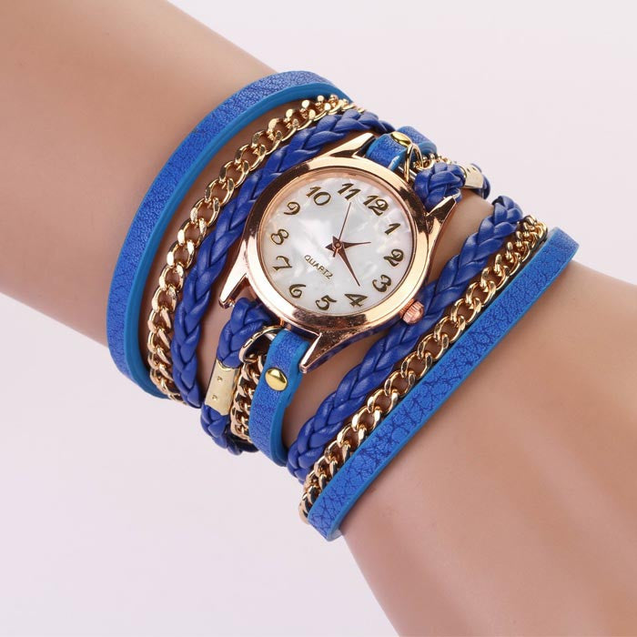 Best Strap Braided Winding Rivet Bracelet Bayan
