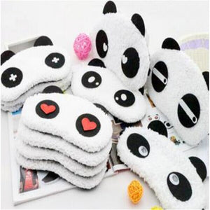 1pcs  lovely panda eye mask shade cute travel rest blindfold cover sleeping eye mask eyeshade eyepatch - Gifts Leads