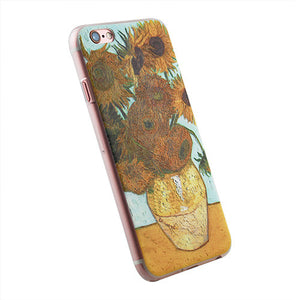 For iphone 5 5S 3D patterns of Van Gogh Starry Night hard
