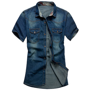 2016 Summer Washing Charm jeans shirts short sleeve