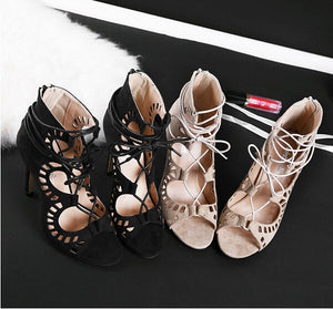 2016 New Fashion High Heeled Thin Heels Open Toe