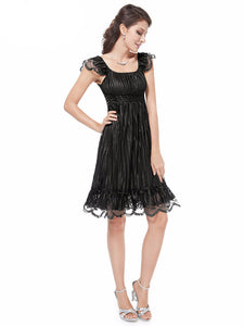 Ever Pretty Chic Black Lace Cocktail Dress