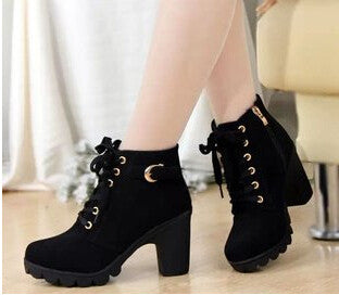New Autumn Winter Women Boots High Quality Solid