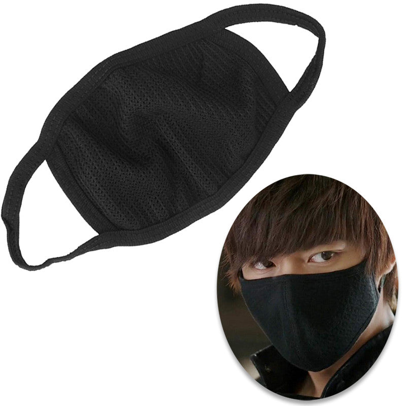 1 Pc Black Health Cycling Anti-Dust Mouth Face Mask Respirator Unisex Fashion Kpop Mouth-Muffle Face Masks#ZH297 - Gifts Leads
