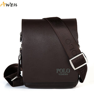 Awen-New Arrival Fashion Business Leather Men Messenger Bags