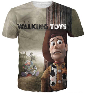 2016 New clothing t-shirt homme Fashion 3D Printed Toys