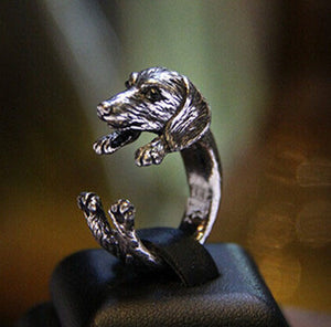 Vintage Dachshund Dog jewerly Gun Black/Antique Silver/Antique Bronze