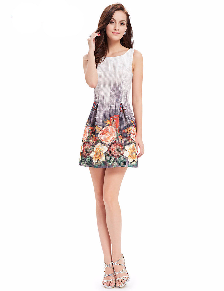 Cocktail Dresses Ever Pretty Women Sexy Flower Dress Round Neck ...