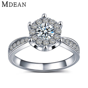 S925 White gold filled rings for women CZ diamond jewelry wedding