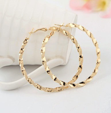 Earings Fashion 2016 Exaggerated Ruili Fashion Boutique Hoop Gold Earring For Women