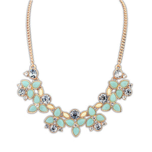 2017 New Fashion Brand Designer Chain Choker Vintage Rhinestone Necklace Bib Statement Necklaces & Pendants Women Jewelry