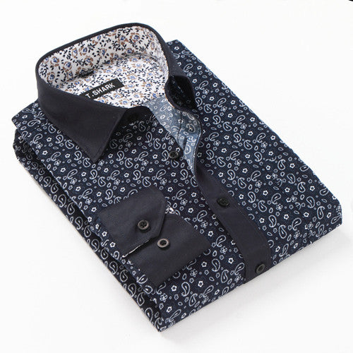 2016 Spring&Fall New Business Casual Patchwork Floral Shirts